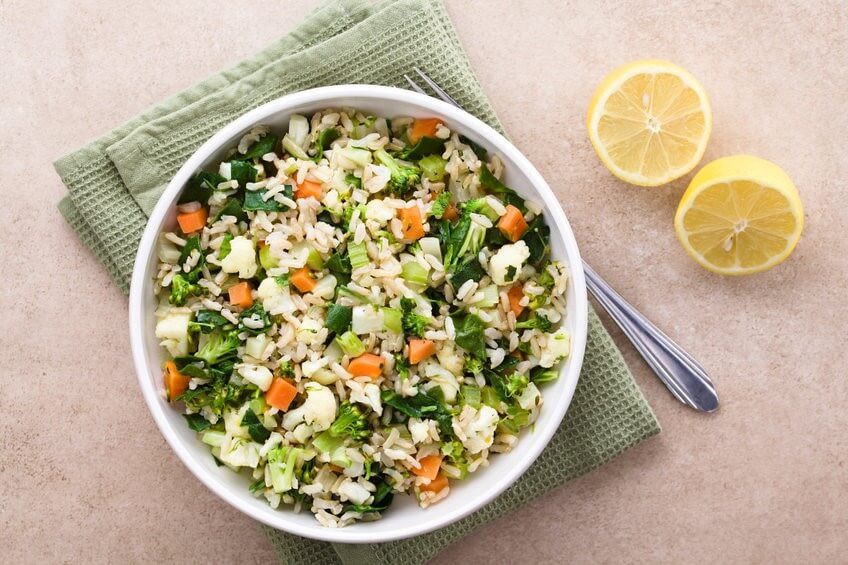 couscous de chou fleur avec salade fenouil orange